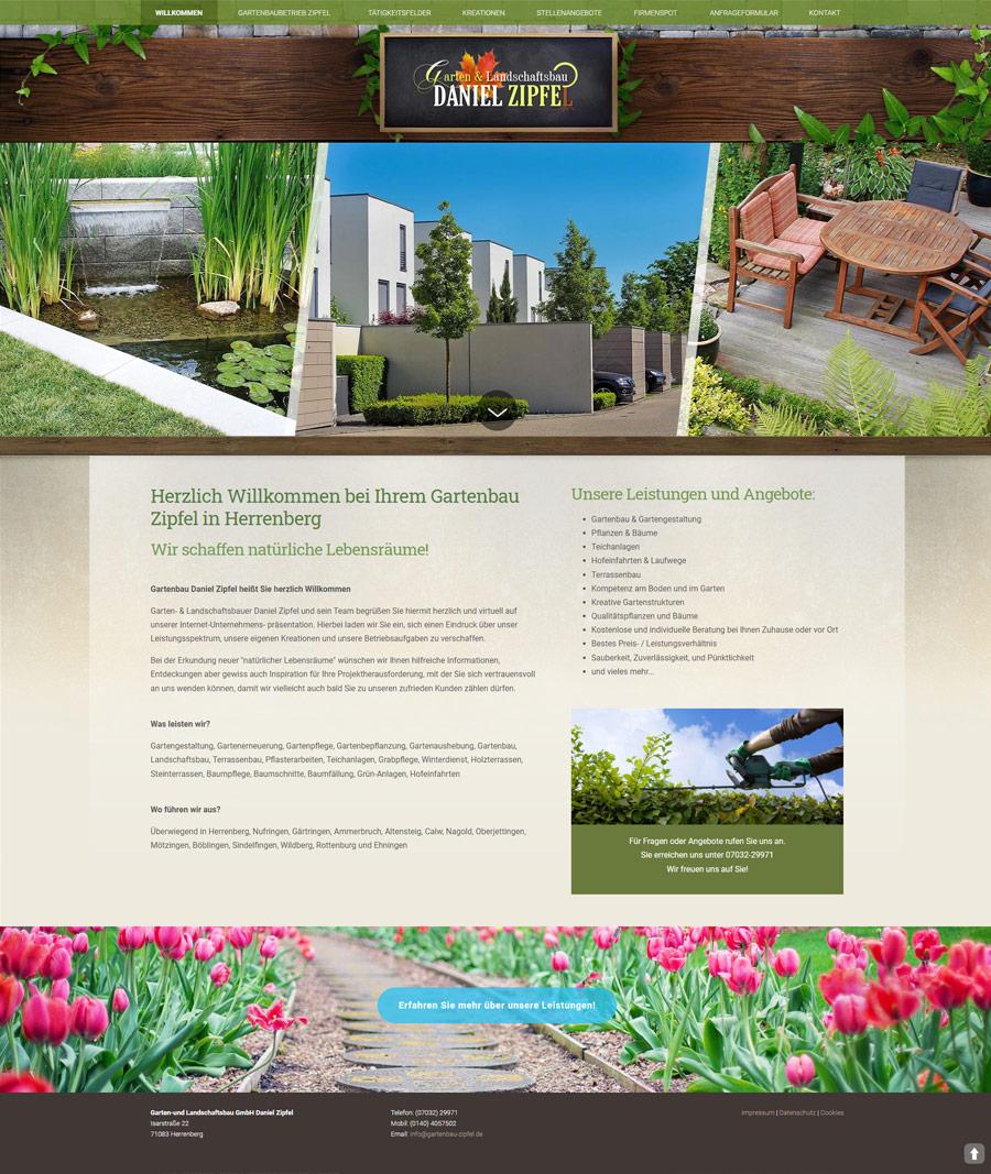 Webdesign Gartenbau Herrenberg